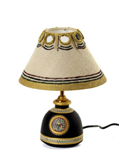Black And Beige Table Lamp