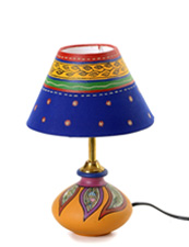 Terracotta Blue Table Lamp