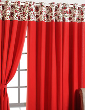 Lining Red Curtain