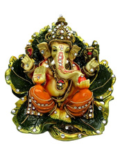 Ganesha Seated On Leaf