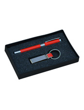 Red Pen With Keychain