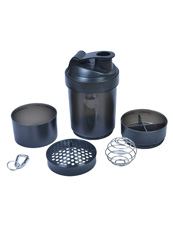 Blender Black Shaker Bottle